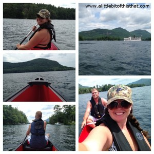 Sharing a canoe trip on the lake with my love!