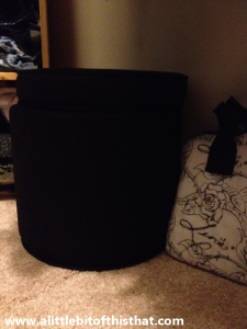 """My ottoman for """"hard to reach"""" items.  BONUS: there's room for storage inside!"""